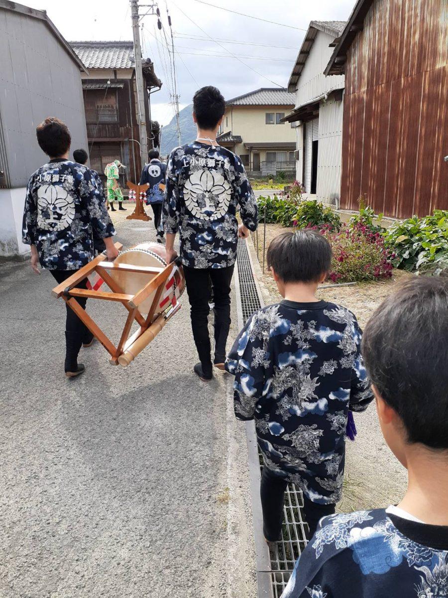 2019年 多度津町山階 秋季例大祭 記念 上小原獅子組
