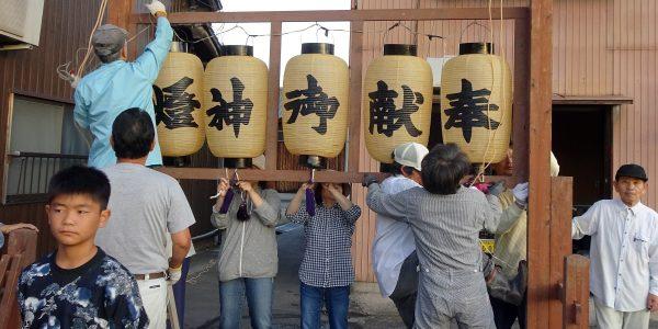2019年 多度津町山階・神輿休 秋祭り準備