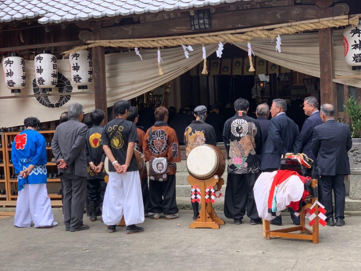 2019年 多度津町山階・春日神社 秋季例大祭 記念 上小原獅子組