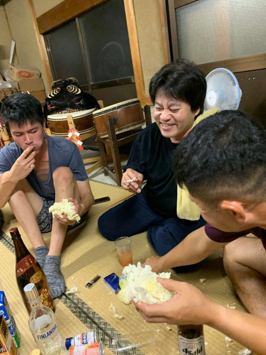 2019年 多度津町山階・当屋 秋祭り 夜鳴らし 上小原獅子組