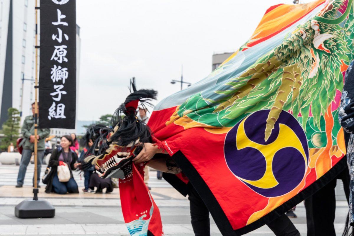 獅子舞王国さぬき2019 駅前広場 上小原獅子組