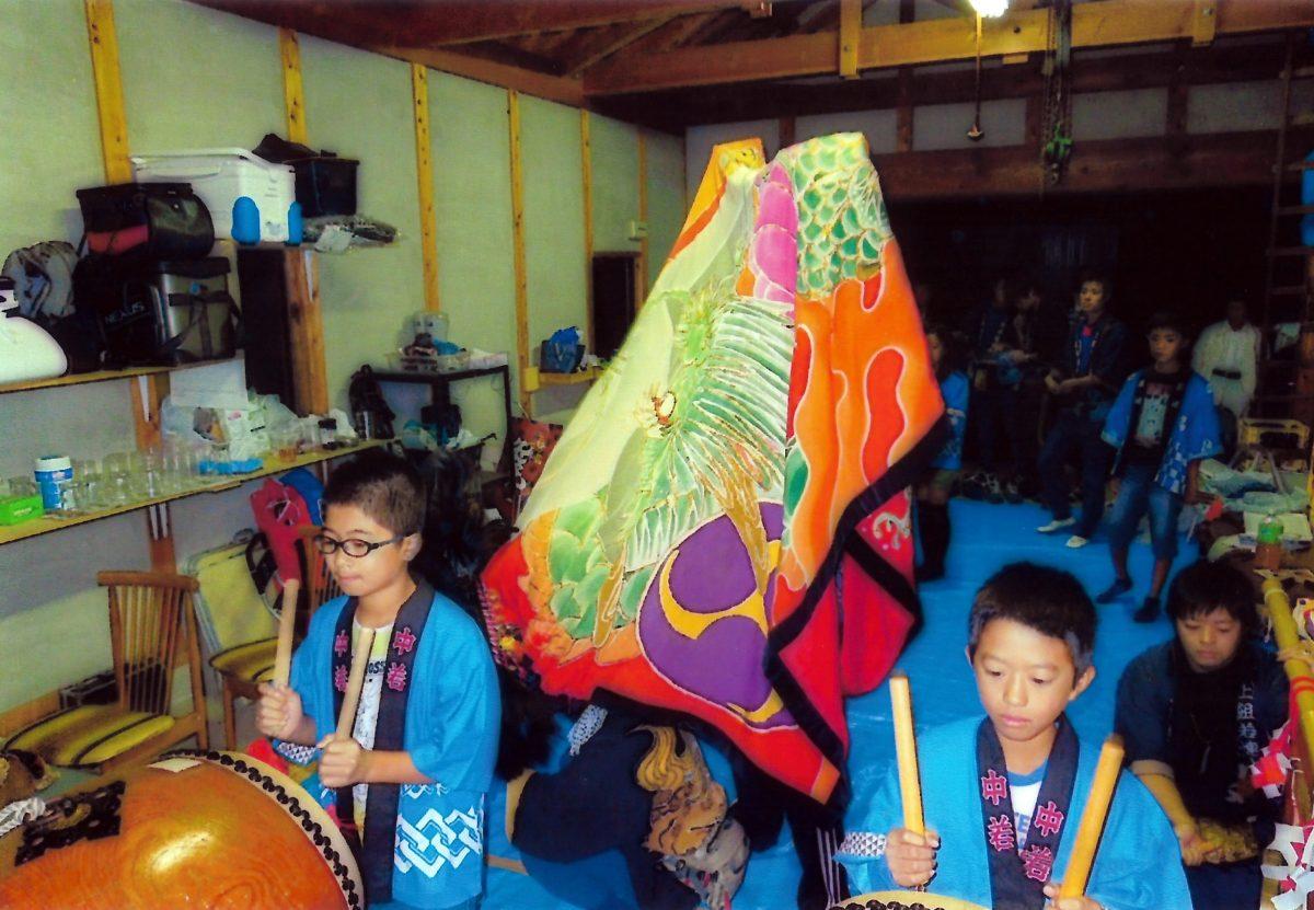 2013年 多度津町山階 秋祭り 当屋 上小原獅子組