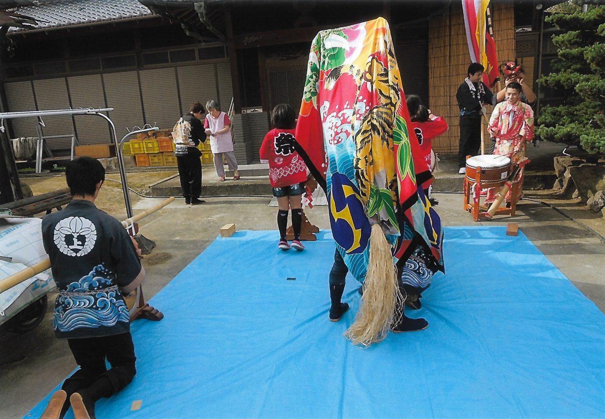2014年 多度津町山階 秋祭り 村遣い 上小原獅子組