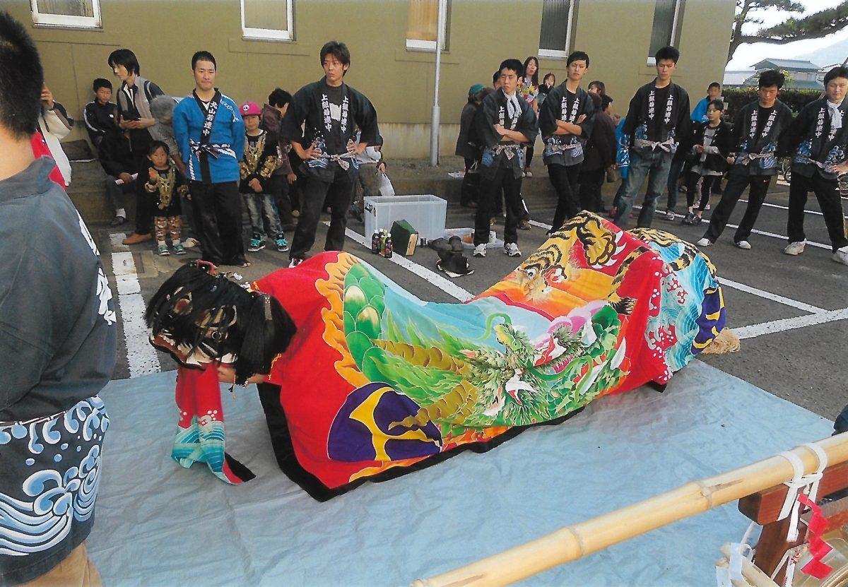 2014年 四箇地区文化祭 上小原獅子組