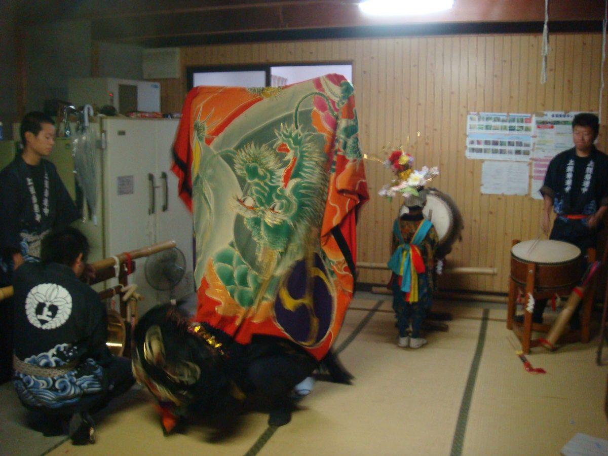 2008年 多度津町山階・当屋 秋祭り 上小原獅子組