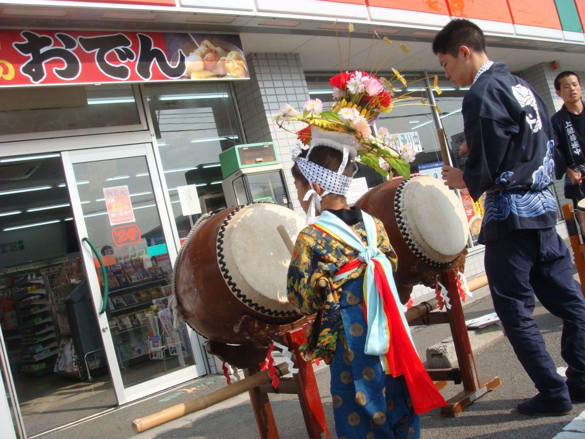 2008年 サンクス 善通寺吉原町店 秋祭り ヘンド 上小原獅子組