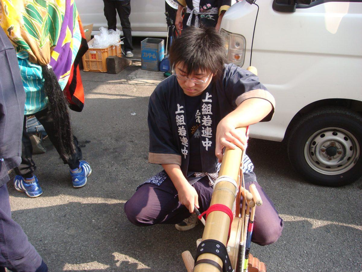 2008年 セイサンエクスプレス 秋祭り ヘンド 上小原獅子組