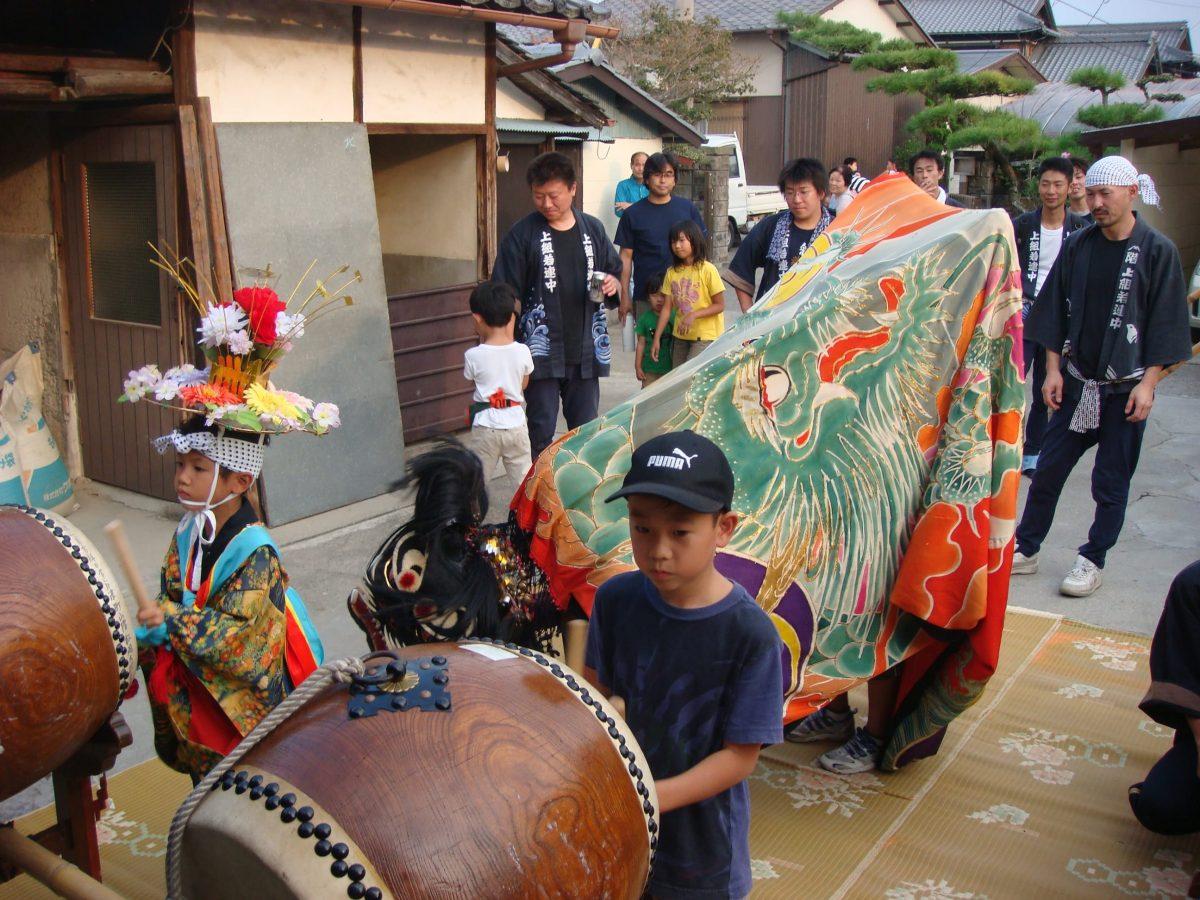 2008年 上小原獅子組 秋祭り 村遣い