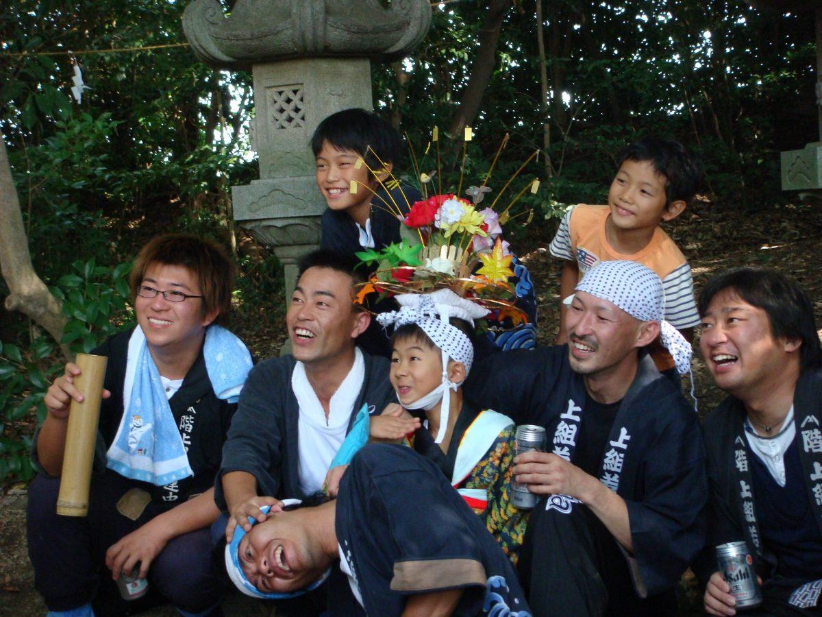 2009年 多度津町山階・春日神社 秋季例大祭 記念 上小原獅子組