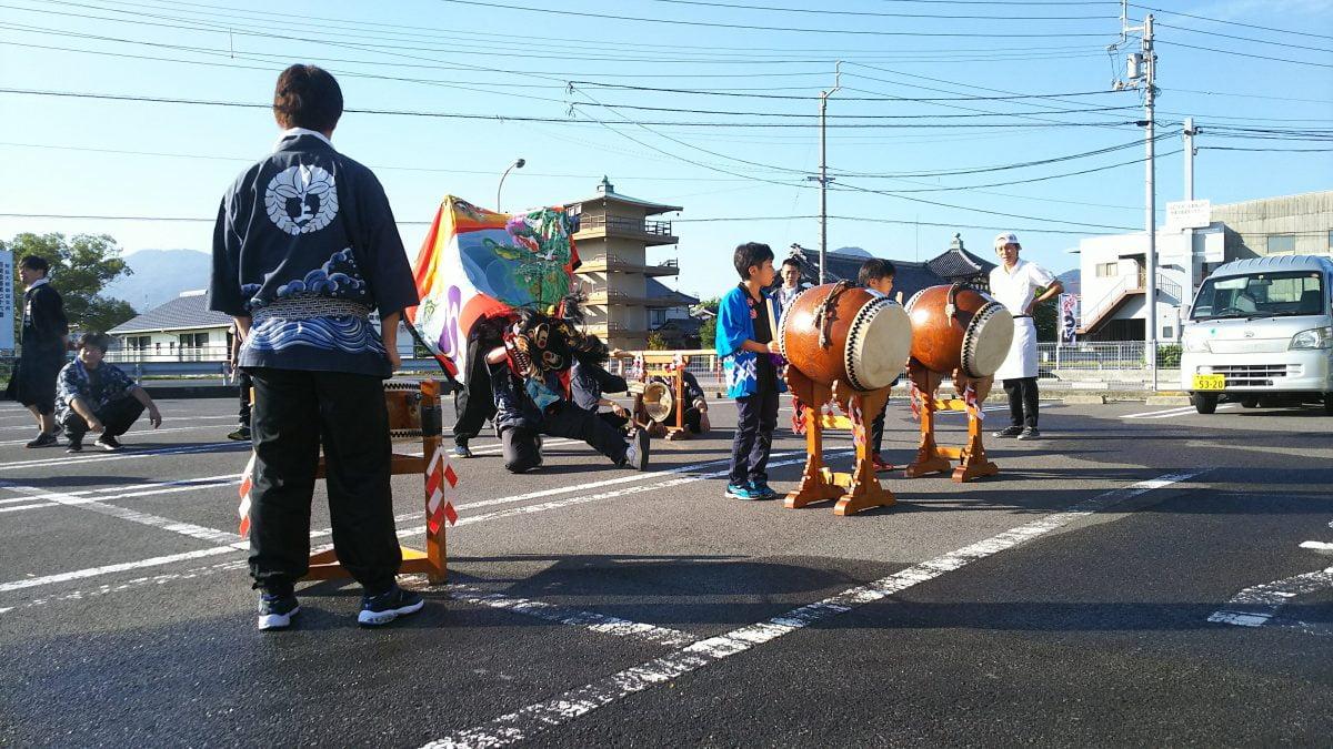 2019年 長田 in 香の香 秋祭り ヘンド 上小原獅子組