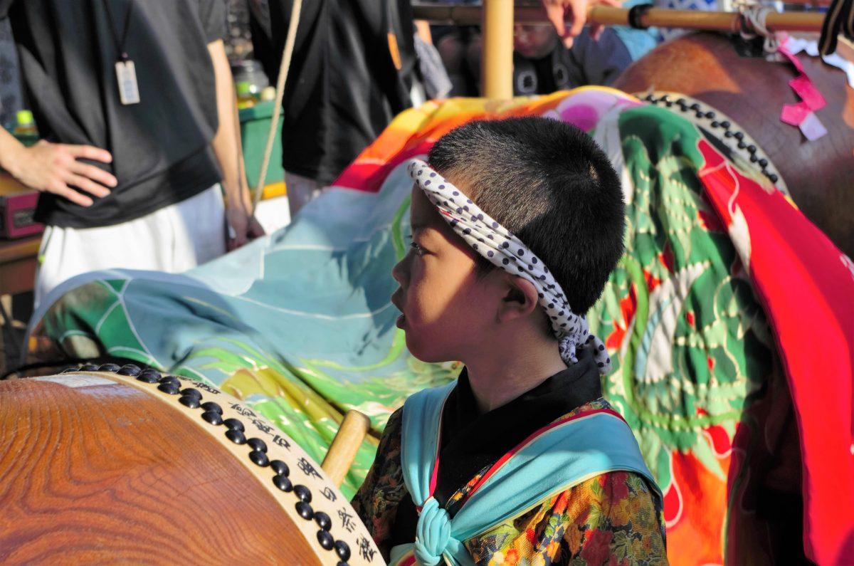 2016年 多度津町山階・春日神社 秋季例大祭 舞い込み 上小原獅子組