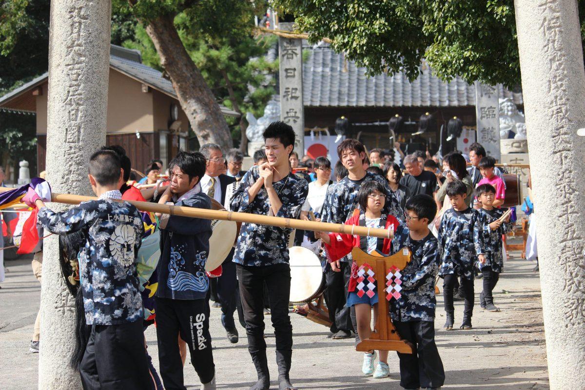2019年 多度津町山階・春日神社 秋季例大祭 神幸 上小原獅子組