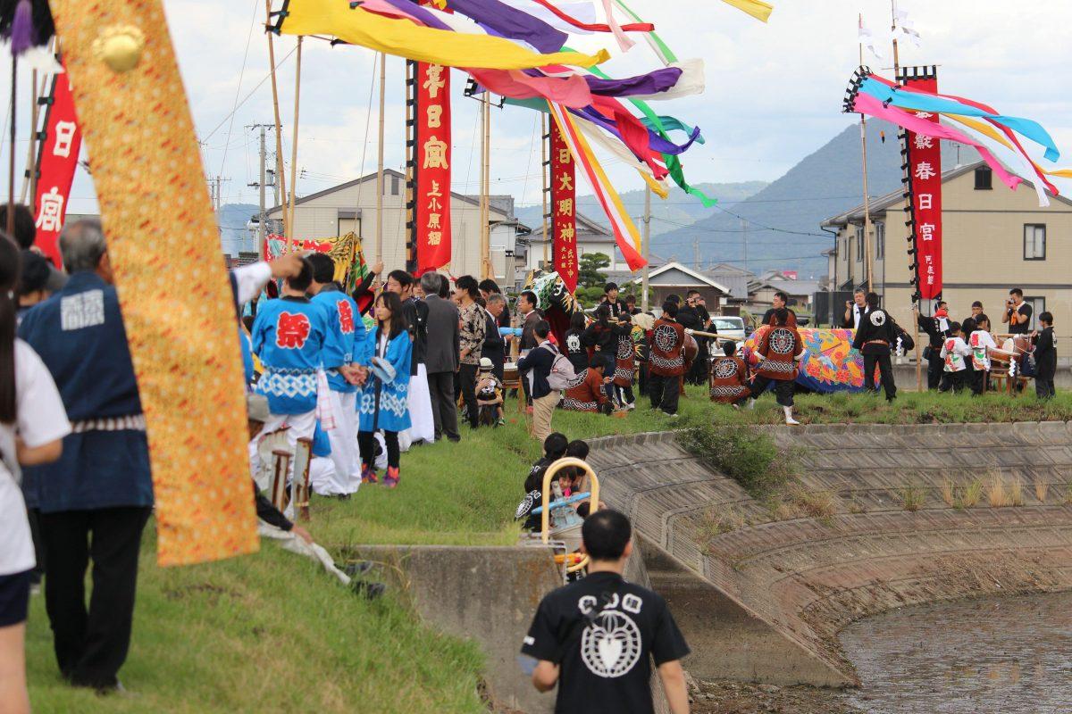 2019年 多度津町山階・藤波池 秋季例大祭 池周り 上小原獅子組