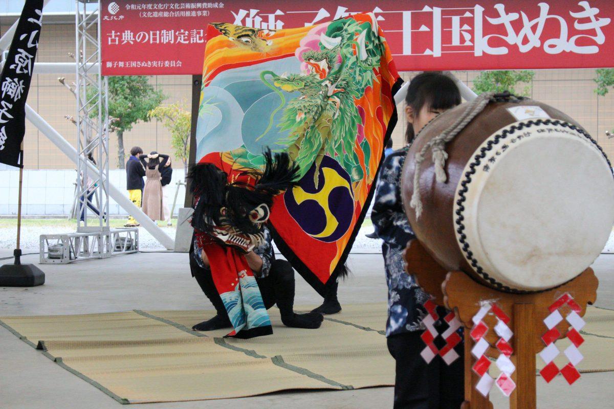 獅子舞王国さぬき2019 大型テント内ステージ 上小原獅子組