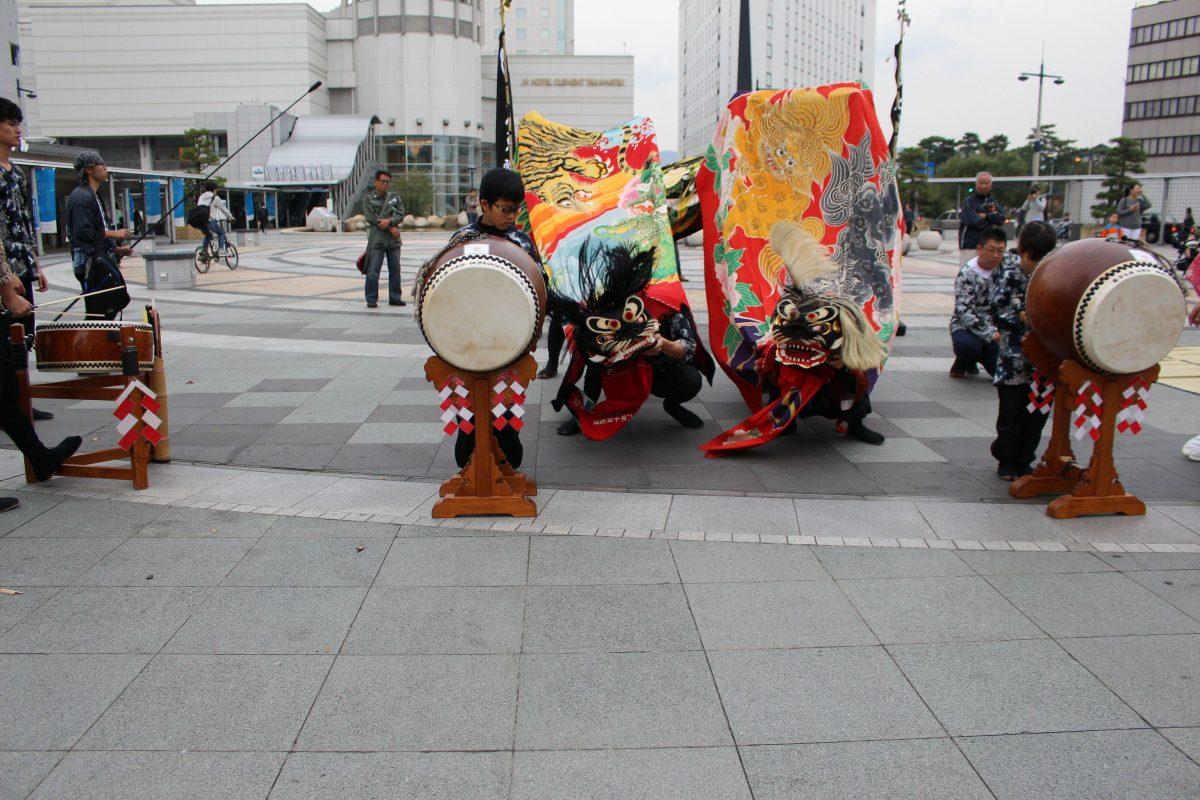 獅子舞王国さぬき2019 駅前広場 山階獅子組