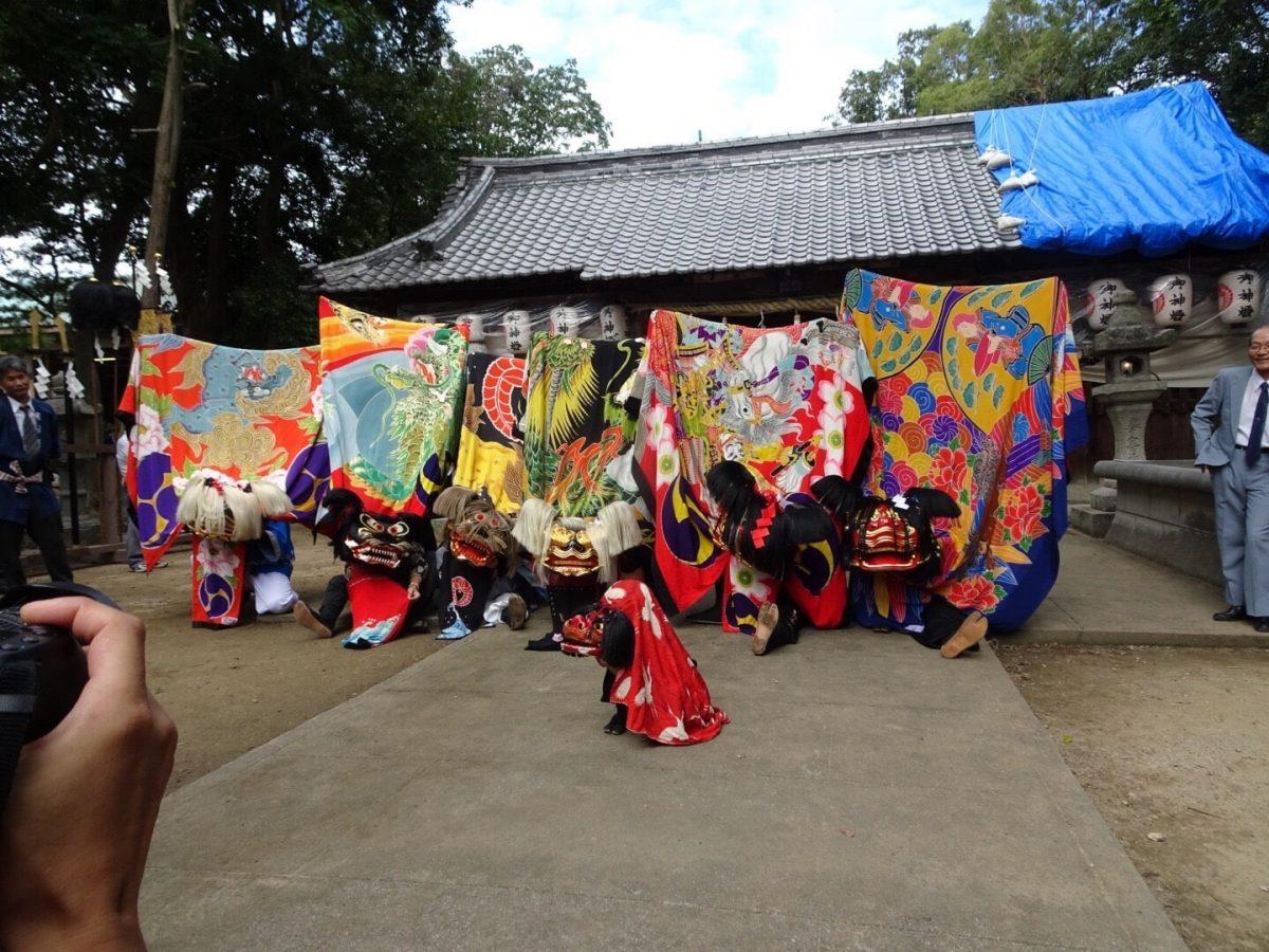 2018年 多度津町山階・春日神社 秋季例大祭 記念 山階獅子組