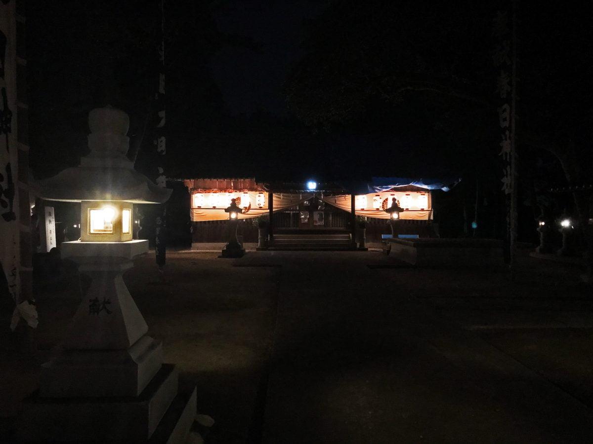 2020年 多度津町山階・春日神社 秋季例大祭 拝殿