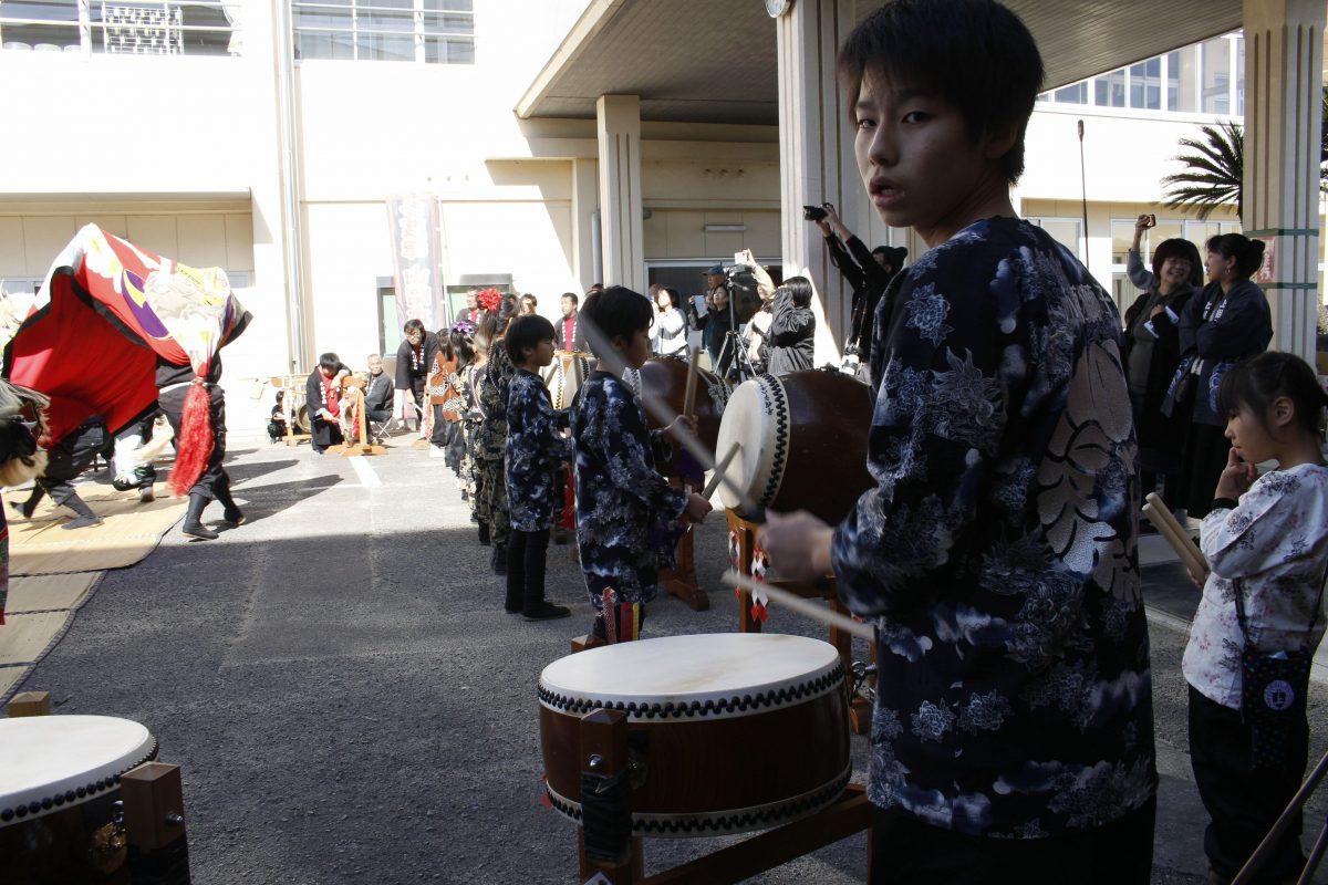 2019年 第35回四箇地区文化祭 山階一斉演舞 上小原獅子組