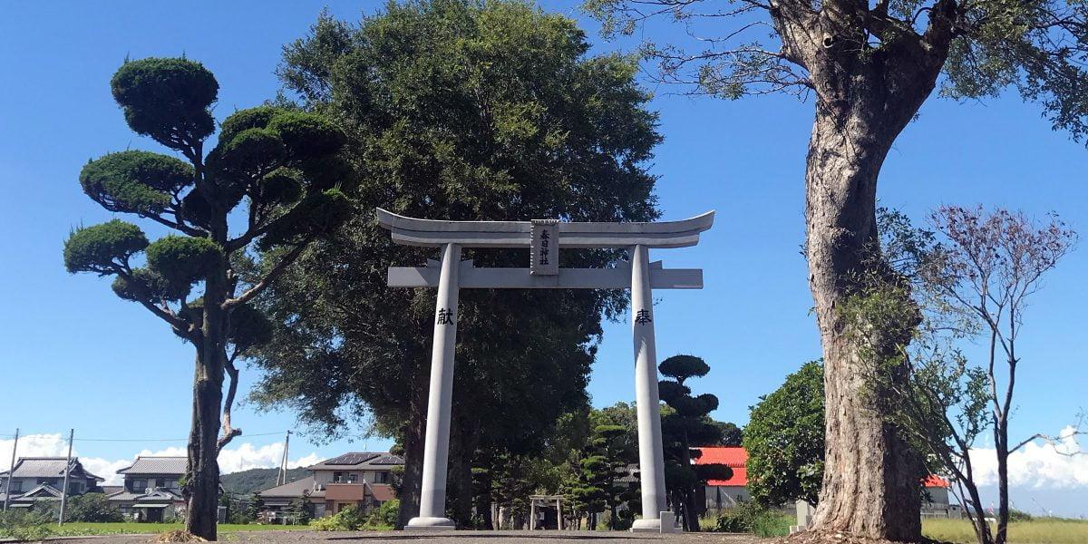 多度津町山階・春日神社 参道